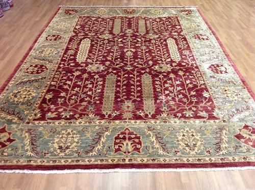 "Egyptian Tabriz 9'0""x12'4"""
